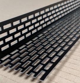 Wemico 30mm x 50mm Aluminium Black Ventilation Angle 2.5m 1 length