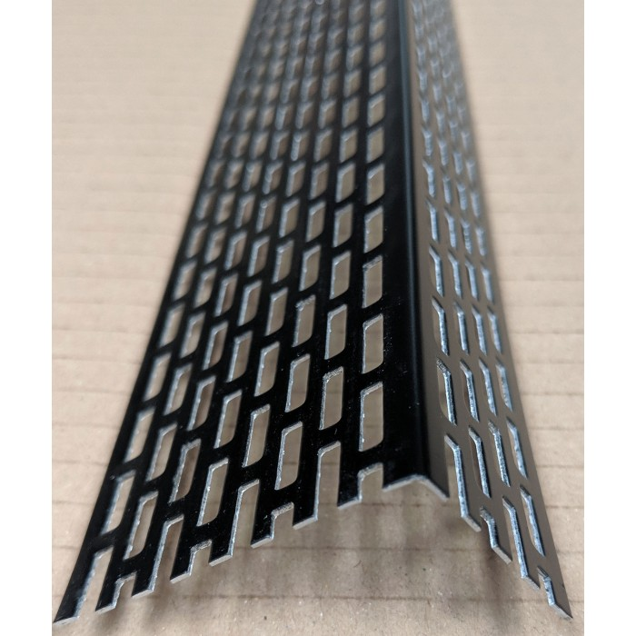 Wemico 30mm x 50mm Aluminium Black Ventilation Angle 2.5m 1 length