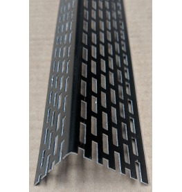 Wemico 30mm X 40mm Aluminium Black Coated Ventilation Profile 2.5m 1 Length