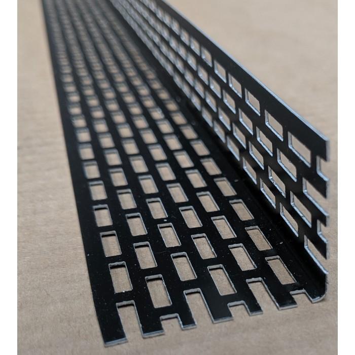 Wemico 30mm X 40mm Aluminium Black Coated Ventilation Profile 2.5mtr