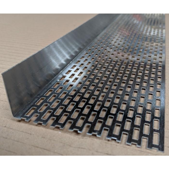 Wemico 30mm x 70mm Aluminium Black Ventilation Angle x 250 cm (1 length)