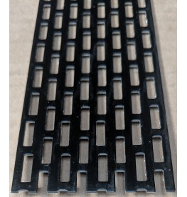 Wemico 50mm x 2.5m Aluminium Black Ventilation Strip 1 length
