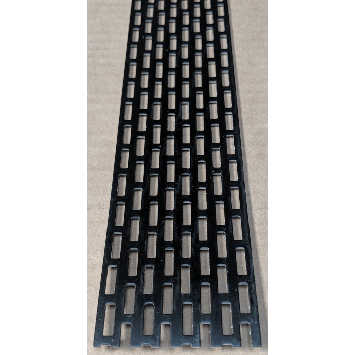 Wemico 50mm x 2.5m Aluminium Black Ventilation Strip 1 length