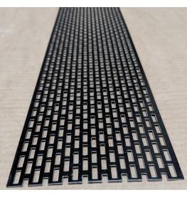 Wemico 100mm Aluminium Black Coated Ventilation Strip 2.5m 1 Length