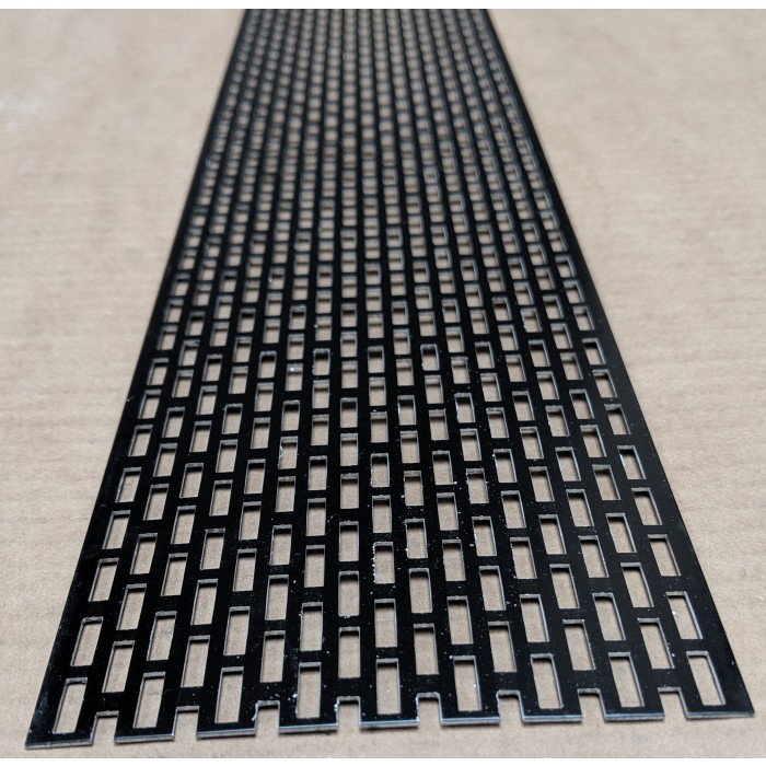Wemico 100mm Aluminium Black Coated Ventilation Profile