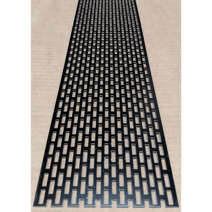 Wemico 100mm Aluminium Black Coated Ventilation Profile