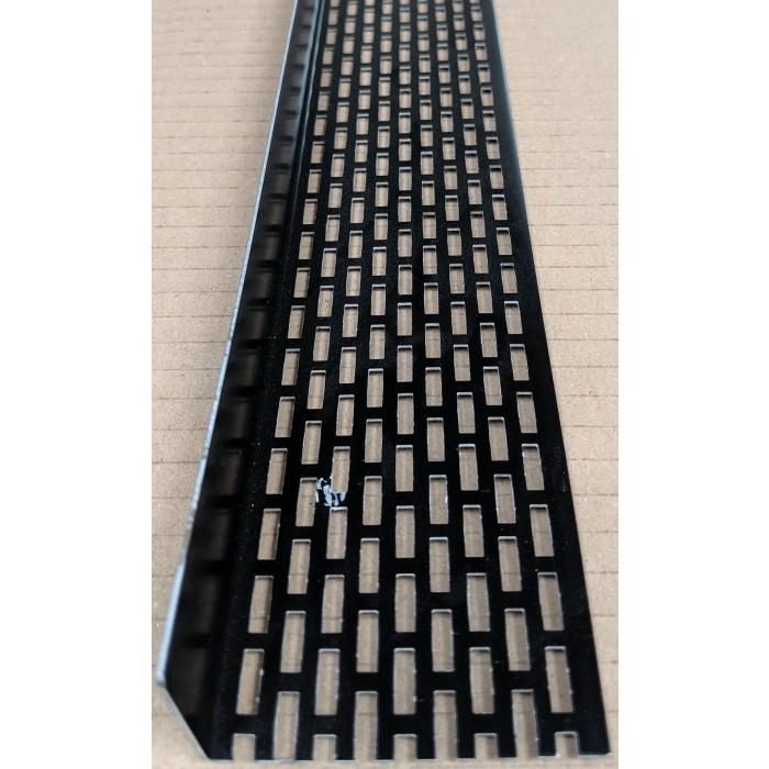 Wemico 30mm x 60mm Black Aluminium Ventilation Angle 2.50m 1 Length