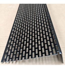 Wemico 30mm x 100mm Aluminium Black Ventilation Angle 2.5m 1 Length