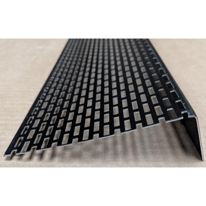 Wemico 30mm x 10mm Aluminium Black Ventilation Angle 2.5m 1 Length