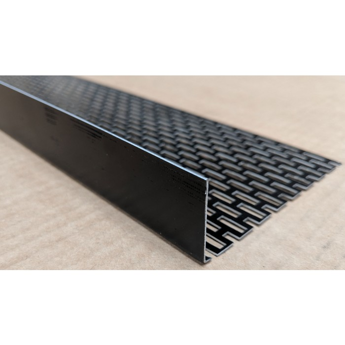 Wemico 30mm x 10mm Aluminium Black Ventilation Angle 2.5m 1 Length