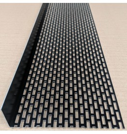Wemico 30mm X 120mm Aluminium Black Coated Ventilation Angle 2.5m 1 length