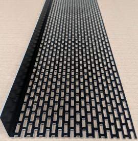 Wemico 30mm X 120mm Aluminium Black Coated Ventilation Angle (1 length)