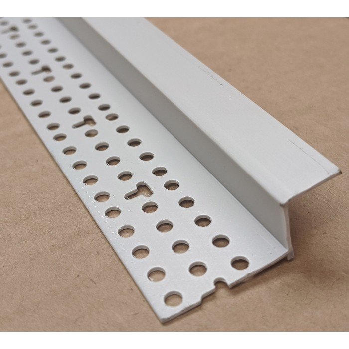Trim-Tex 12mm Shadow Gap Silver PVC Feature Bead Profile 12.5mm x 12mm x 305cm 1 length AS5510S