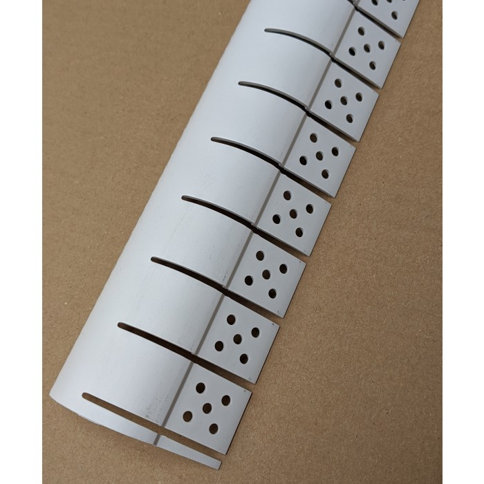 Trim-Tex White PVC Bullnose Outside Archway Corner Bead 3m 1 Length 7199