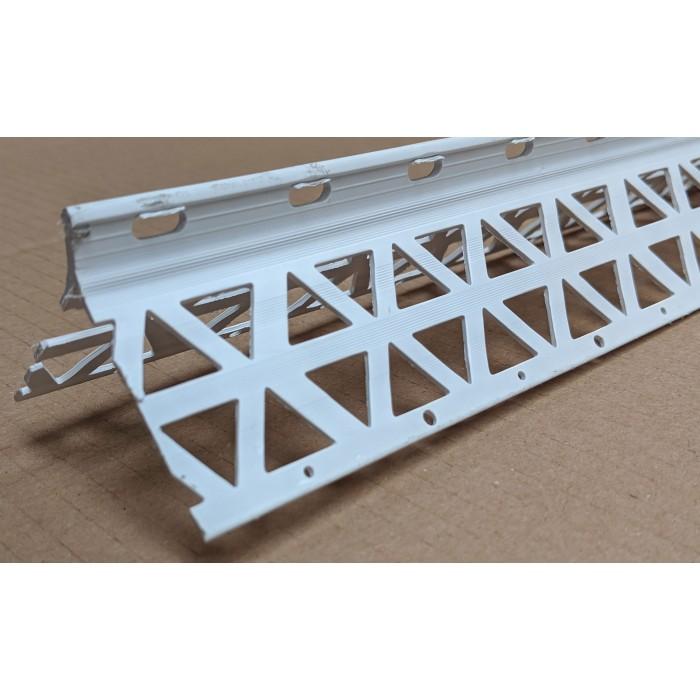 White PVC Corner Bead 10 - 12mm Render Depth 3m 1 Length