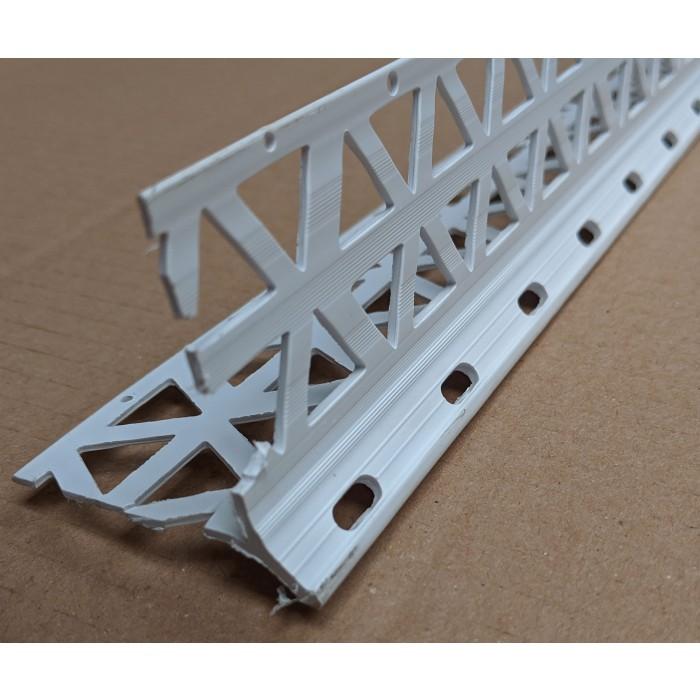 White PVC Corner Bead 10 - 12mm Render Depth 2.5m 1 Length