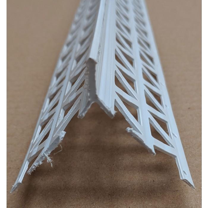 White PVC Corner Bead 13 - 15mm Render Depth 2.5m 1 Length