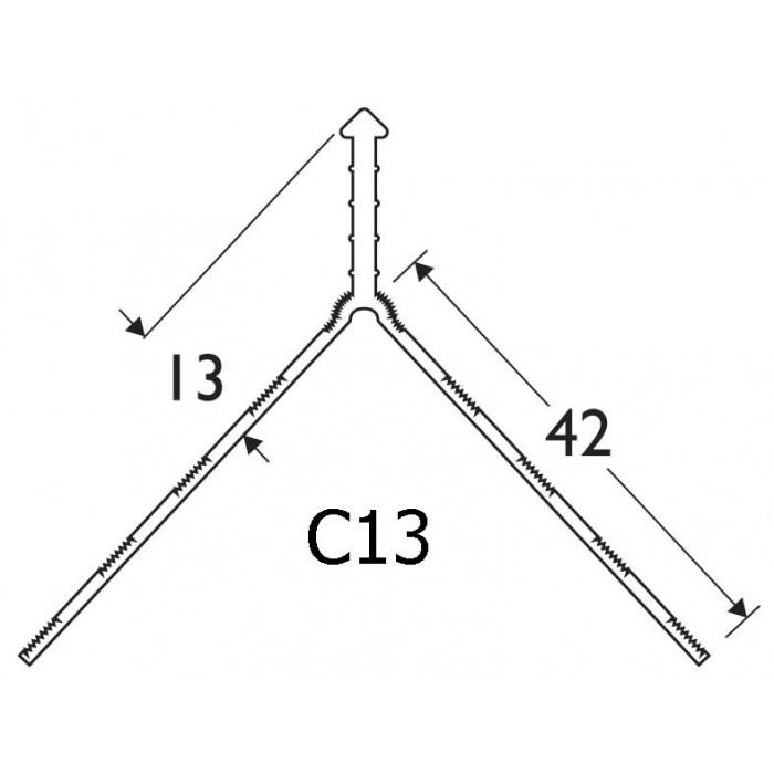White PVC Corner Bead 13 - 15mm Render Depth 3m 1 Length