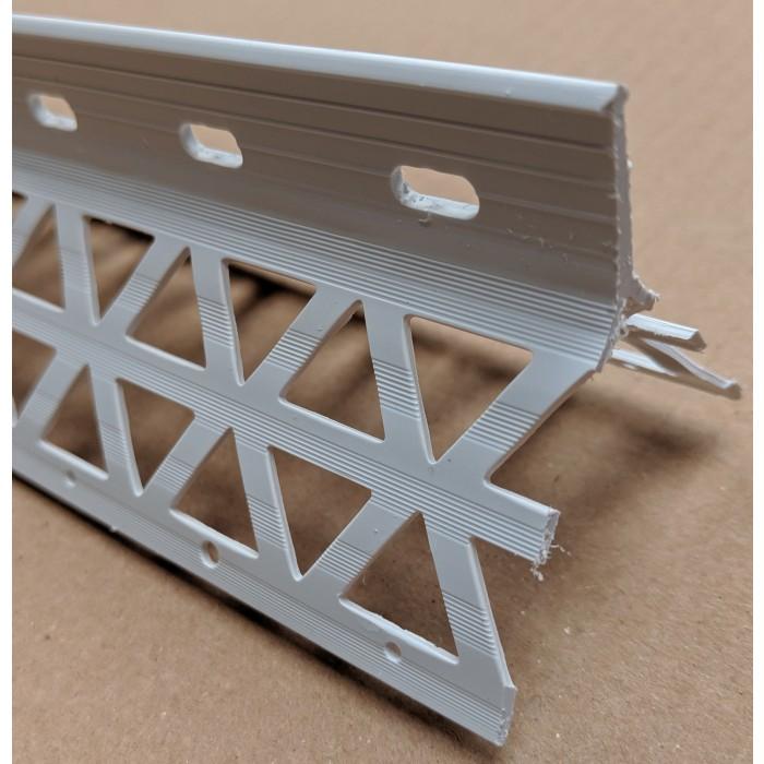 White PVC Corner Bead 15 - 17mm Render Depth 2.5m 1 Length