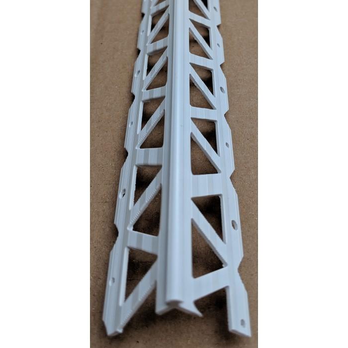 White PVC Corner Bead 2 - 3mm Render Depth 2.5m 1 Length