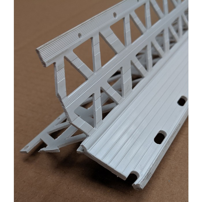 White PVC Corner Bead 20 - 23mm Render Depth 2.5m 1 Length