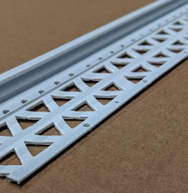 White 6-12mm Render Depth PVC Drip / Bellcast Bead 2.5m 1 Length
