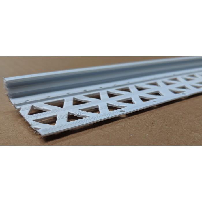 White 6-12mm Render Depth PVC Drip / Bellcast Bead 2.5m 1 Length