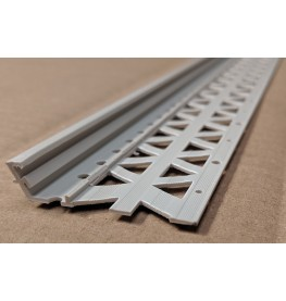 Light Grey 6-12mm Render Depth PVC Drip / Bellcast Bead 2.5m 1 Length