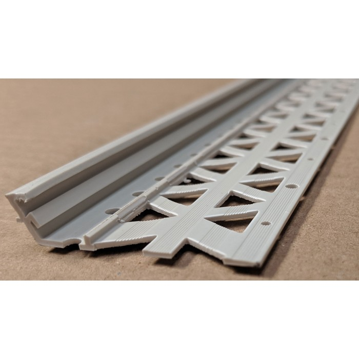 Light Grey 6-12mm Render Depth PVC Drip / Bellcast Bead 2.5m 1 Length
