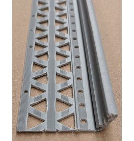Dark Grey 10-17mm Render Depth PVC Drip / Bellcast Bead 2.5m 1 Length