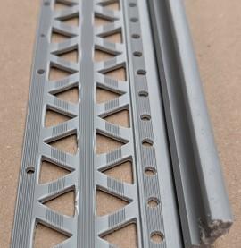 Grey 10-17mm Render Depth PVC Drip / Bellcast Bead 2.5m 1 Length