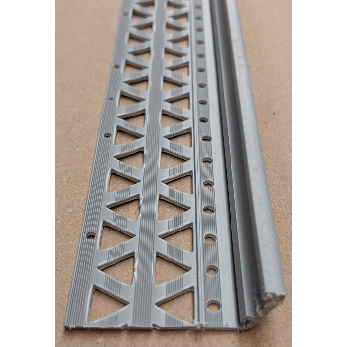 Grey 10-17mm Render Depth PVC Drip / Bellcast Bead 2.5m 1 Length