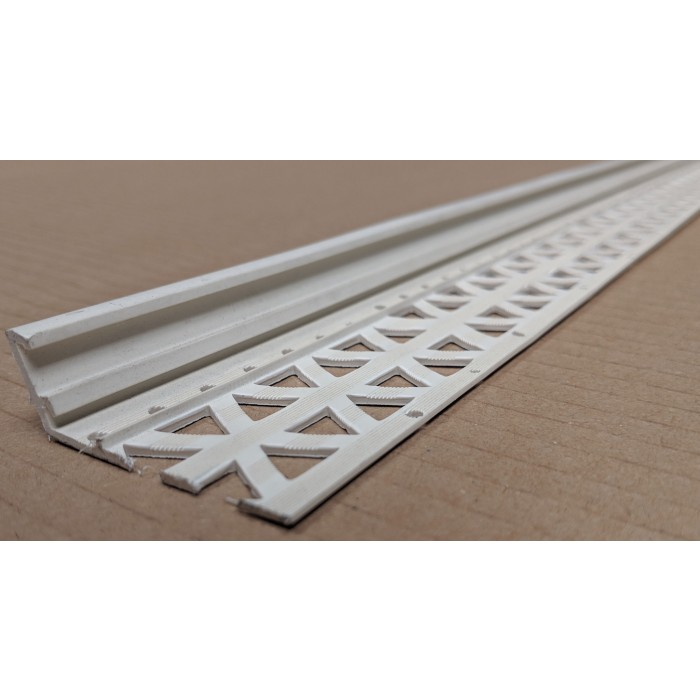 Ivory 6-12mm Render Depth PVC Drip / Bellcast Bead 2.5m 1 Length