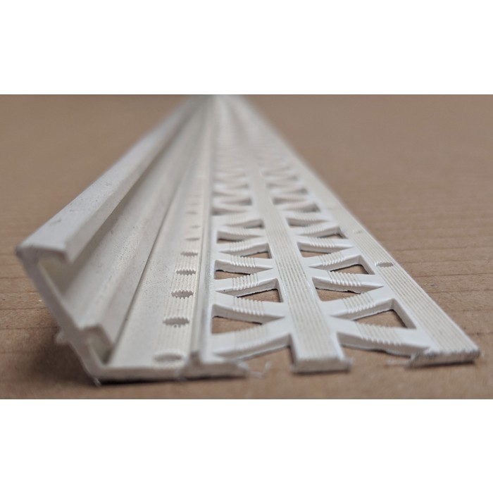 White 10-17mm Render Depth PVC Drip / Bellcast Bead 2.5m 1 Length