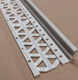 Light Grey 10-17mm Render Depth PVC Drip / Bellcast Bead 2.5m 1 Length