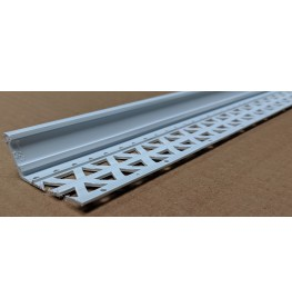 White 13-22mm Render Depth PVC Drip / Bellcast Bead 2.5m 1 Length