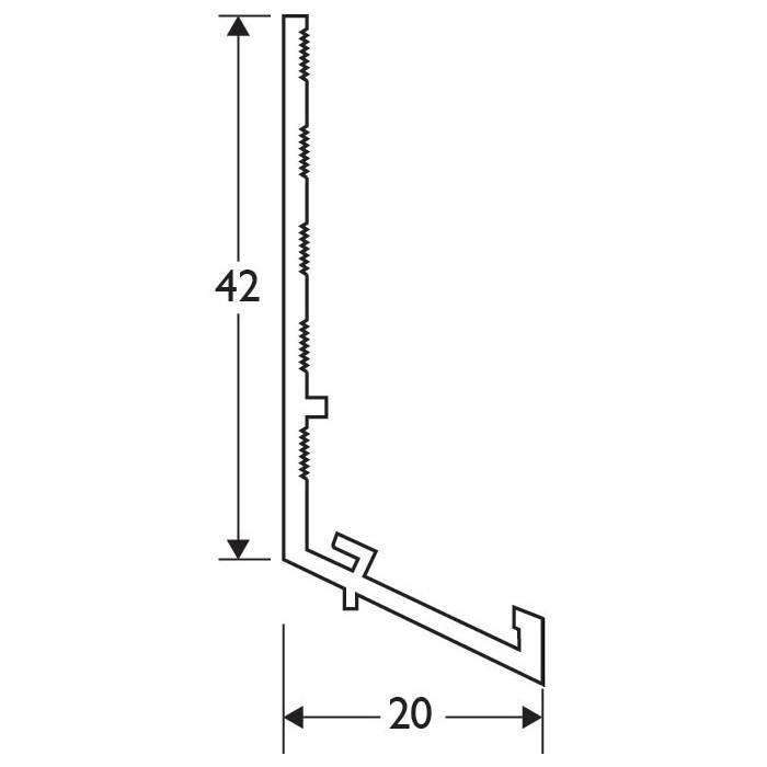 Light Grey 13-22mm Render Depth PVC Drip / Bellcast Bead 2.5m 1 Length