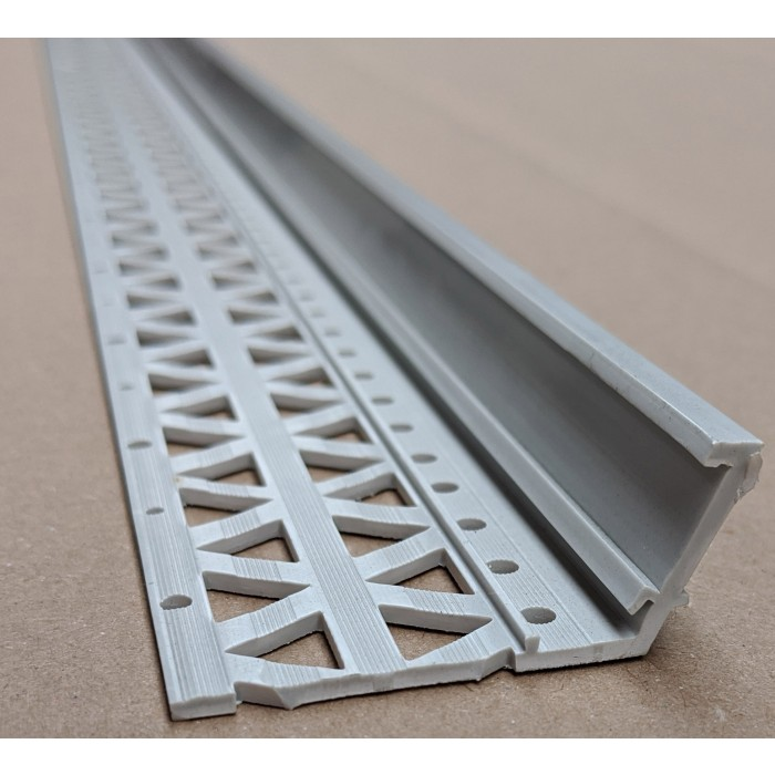 Light Grey 13-22mm Render Depth PVC Drip / Bellcast Bead 2.5m 1 Length