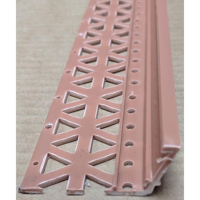 Terracotta 13-22mm Render Depth PVC Drip / Bellcast Bead 2.5m 1 Length