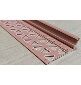 Terracotta 10-17mm Render Depth PVC Drip / Bellcast Bead 2.5m 1 Length