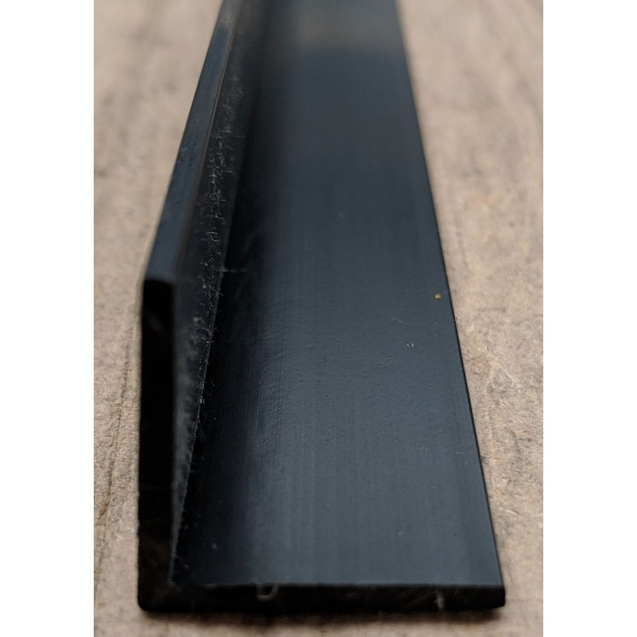 Wemico Black PVC 90 Degree Angle Facade Profile 25mm x 25mm x 2.0mm x 2.5m 1 Length