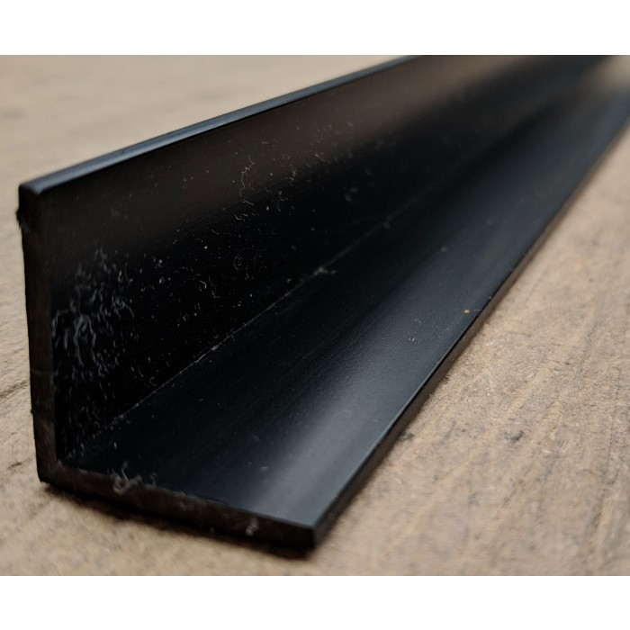 Wemico Black PVC 90 Degree Angle Facade Profile 30mm x 30mm x 2.5mm x 2.5m 1 Length