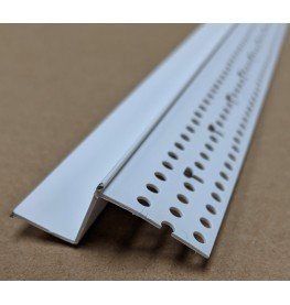 Trim-Tex 15mm Shadow Gap White PVC Feature Bead Profile 15mm x 15mm x 305cm 1 length AS6010