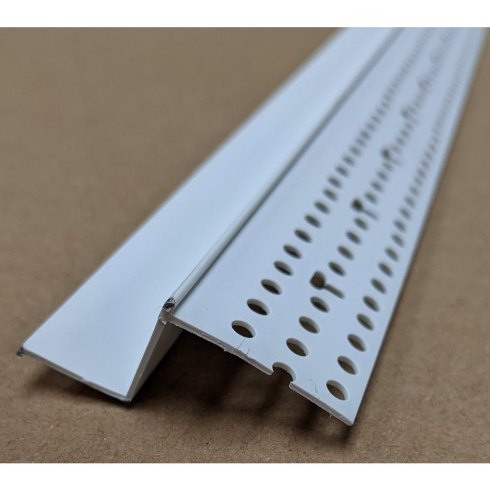 Trim-Tex 15mm Shadow Gap White PVC Feature Bead Profile 15mm x 15mm x 305cm 1 length AS6010