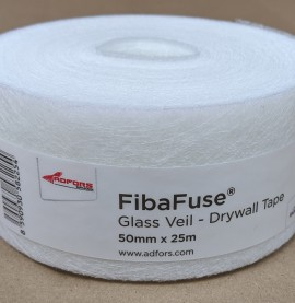 FibaFuse Glass Veil Paperless Drywall Tapes 25m 1 Roll 50mm Wide