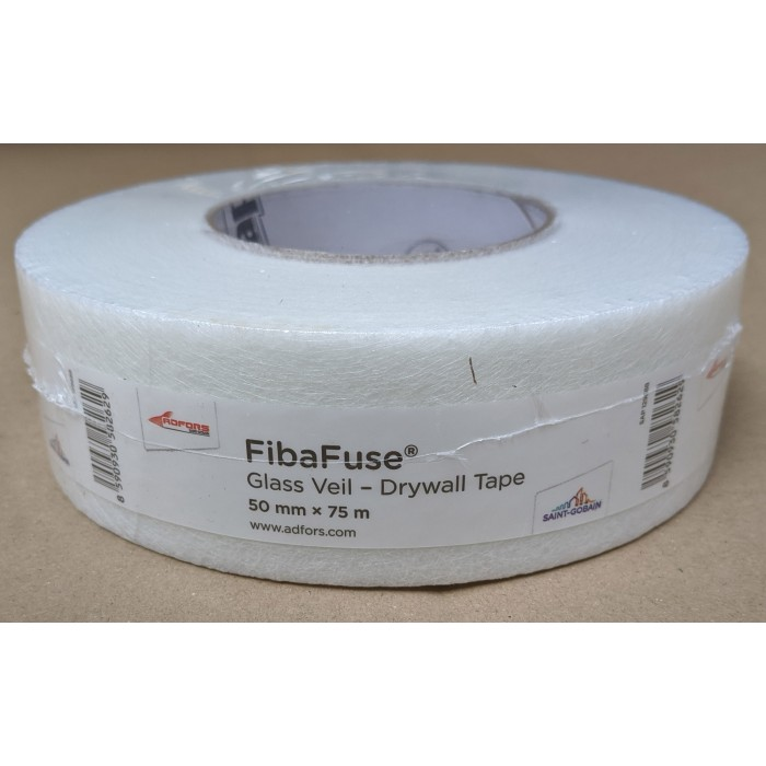 FibaFuse Glass Veil Paperless Drywall Tape 75m 1 Roll 50mm Wide