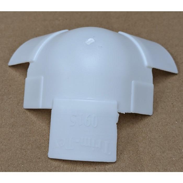 "Trim-Tex 1.5"" 3 Way Inside R. Bull Moulded Corner Adapter 915"