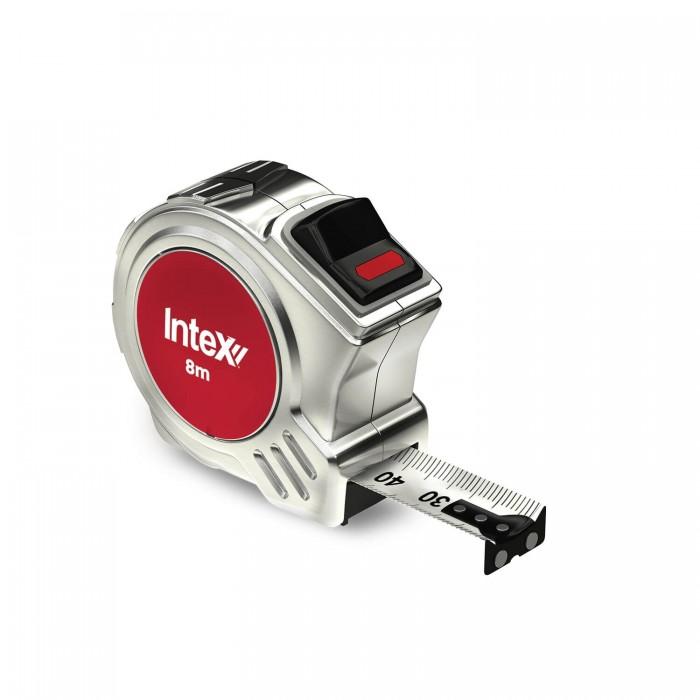 InteX Solid Metal Case 8m Tape Measure 25mm Wide