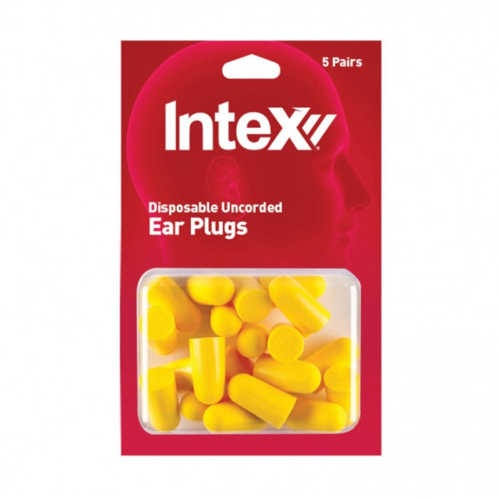 Intex Disposable Uncorded Ear Plugs Pack Of Five Pairs