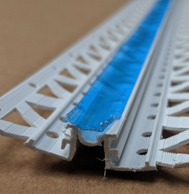 White 10 - 12mm Render Depth PVC Movement Bead 2.5m 1 Length